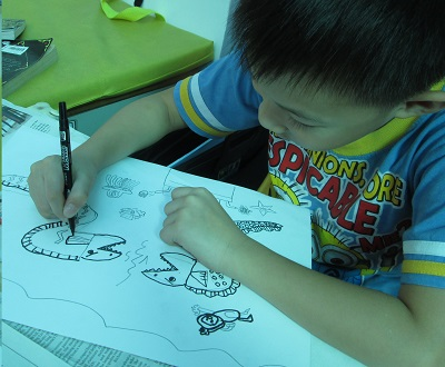 Children drawing image